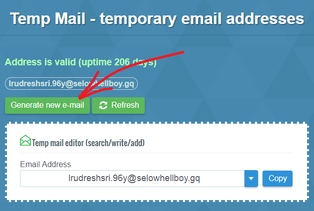 Temp Mail Refresh