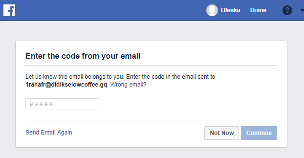 Temp Mail for Facebook